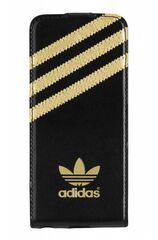 Adidas puzdro knižka Apple Iphone 5/5C/5S/SE čierno-zlaté