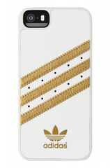 Adidas puzdro plastové Apple Iphone 5/5C/5S/SE bielo-zlaté
