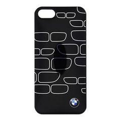 BMW puzdro gumené Apple iphone 5/5C/5S/SE BMHCP5KSBK čierno-strieborné