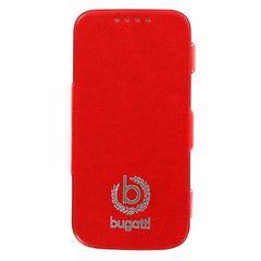 Bugatti puzdro knižka Samsung I9505 Galaxy S4 Geneva červené