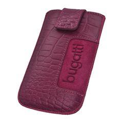 Bugatti puzdro vsuvka M Croco ružové