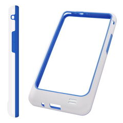 Puzdro rámik Samsung I9100 Galaxy S2 bielo-modré