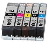 Toner Canon CLI-521 compatible čierny s čipom