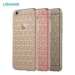Usams puzdro gumené Apple iPhone 6/6S Gelin Diamond ružové