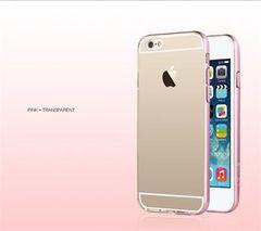 Usams puzdro gumené Apple iPhone 6/6S Slim 2v1 ružové