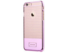 Usams puzdro plastové Apple iPhone 6/6S V-Plating ružové