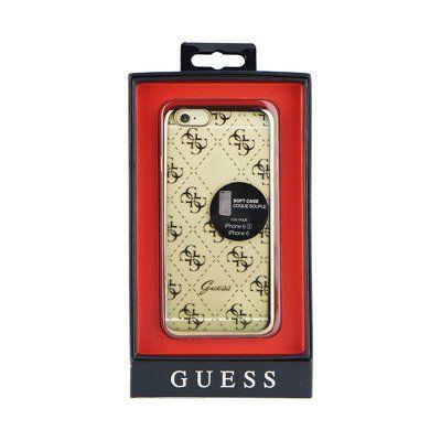 Guess puzdro gumené Apple iPhone 6/6S GUHCP6TR4GG zlaté