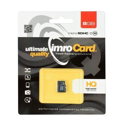 Pamäťová karta 8GB Imro microSDHC class 10 bez adaptéra