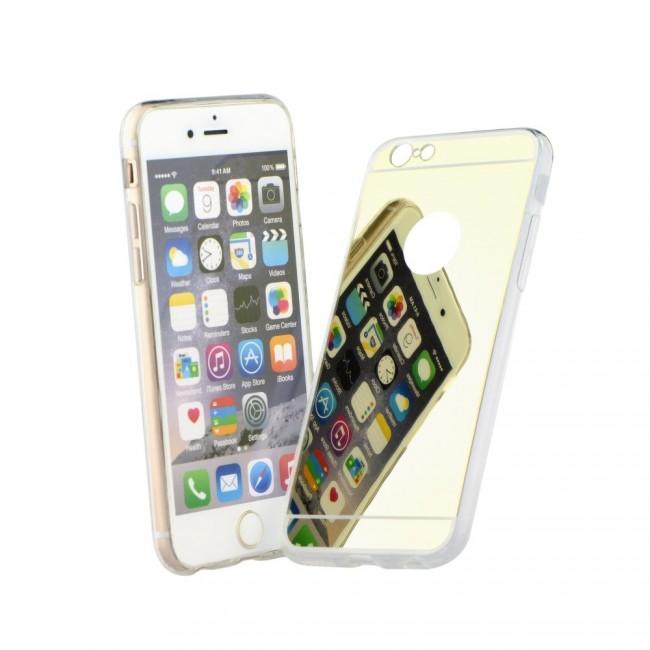 Puzdro gumené Apple iPhone 5 5C 5S SE zrkadlo zlaté PT zväčšiť obrázok 2a50a916fb9