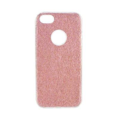 Puzdro gumené Apple iPhone 5 5C 5S SE transparentno-ružové s trblietka  zväčšiť obrázok 296528e90a7