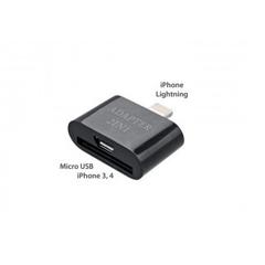 Adaptér 2v1 micro USB Apple iPhone 3/4, Apple iPhone 5 čierny
