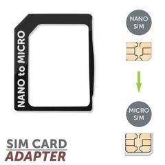 Adaptér nano-micro SIM čierny