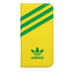 Adidas puzdro knižka Apple Iphone 5/5C/5S/SE Brazil žlté