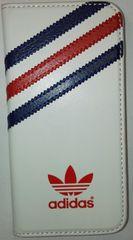 Adidas puzdro knižka Apple Iphone 5/5C/5S/SE UK biele