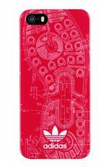 Adidas puzdro plastové Apple Iphone 5/5C/5S/SE červené vzor stopa