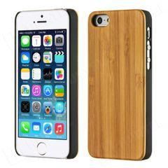 Bamboo puzdro plastové Apple iPhone 5 svetlohnedé drevo HT