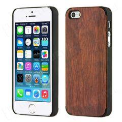 Bamboo puzdro plastové Apple iPhone 5 tmavohnedé drevo HT