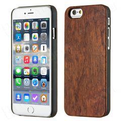 Bamboo puzdro plastové Apple iPhone 6 tmavohnedé drevo HT