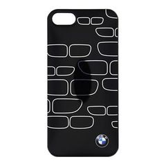 BMW puzdro gumené Apple iphone 5 BMHCP5KSBK čierne/strieborné