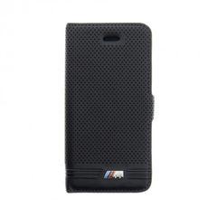 BMW puzdro knižka Apple iPhone 5/5S/SE BMFLBKPSEMPEBIC čierne
