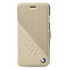 BMW puzdro knižka Apple iPhone 6 BMFLBKP6LDLT bežové PT