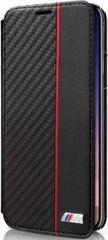 BMW puzdro knižka Apple iPhone X BMBKTRPXCAPRBK Carbon čierne