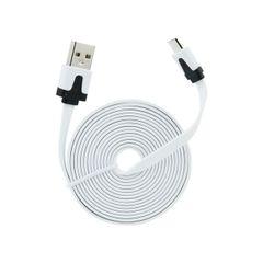 Dátový kábel micro USB 2m biely PT