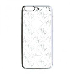 Guess puzdro gumené Apple iPhone 5/5C/5S/SE GUHCPSETR4GSI strieborné