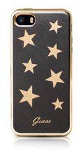 Guess puzdro gumené Apple iPhone 5/5S/SE GUHCPSESTABK hnedé s hviezdič