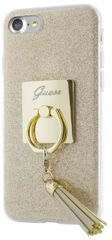 Guess puzdro gumené Apple iPhone 7 GUHCP7RSGO zlaté prsteň