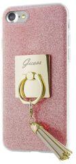 Guess puzdro gumené Apple iPhone 7 GUHCP7RSRG ružové prsteň
