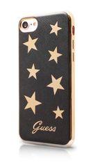 Guess puzdro gumené Apple iPhone 7 GUHCP7STABK hnedé s hviezdičkami