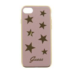 Guess puzdro gumené Apple iPhone 7 GUHCP7STAPI  ružové s hviezdičkami