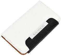 KLD puzdro knižka Apple iPhone 5/5C/5S/SE bielo-čierne