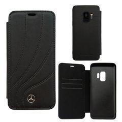 Mercedes puzdro knižka Samsung G965 Galaxy S9 Plus MEFLBKS9LDCLBK čier