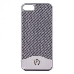 Mercedes puzdro plastové Apple iPhone 5/5C/5S/SE MEHCPSECAC strieborné