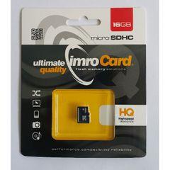 Pamäťová karta 16GB Imro microSDHC class 6 s adaptérom PT