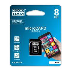 Pamäťová karta 8GB Goodram microSDHC class 4 s adaptérom PT