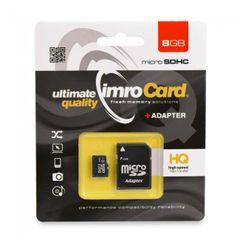Pamäťová karta 8GB Imro microSDHC TransFlash s adaptérom PT