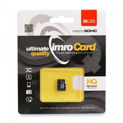 Pamäťová karta 8GB Imro microSDHC class 4 bez adaptéra