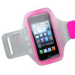 Puzdro športové Apple iPhone 5/5C/5S/SE sivé/ružové