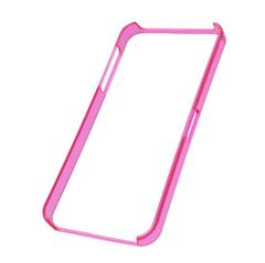 Puzdro rámik Apple iPhone 5/5S ružové priehľadné