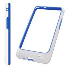 Puzdro rámik Samsung I9100 bielo-modré