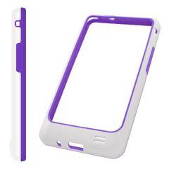 Puzdro rámik Samsung I9100 bielo-fialové