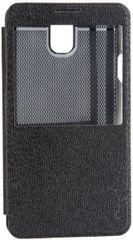 Rock puzdro knižka Samsung N9005 Galaxy Note 3 čierne
