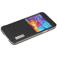 Rock puzdro knižka Samsung G900 Galaxy S5 čierne