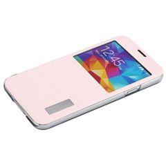 Rock puzdro knižka Samsung G900 Galaxy S5 ružové