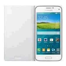 Samsung puzdro knižka G800 Galaxy S5 mini EF-FG800BW biele