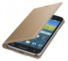 Samsung puzdro knižka G800 Galaxy S5 mini EF-FG800BDEGWW zlaté