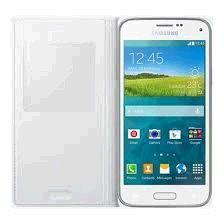 Samsung puzdro knižka G800 Galaxy S5 mini EF-CG800B s-view biele